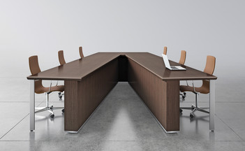 V- Shaped Conference Table