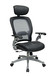 Taylor Mesh Back Leather Seat Chair with Headrest