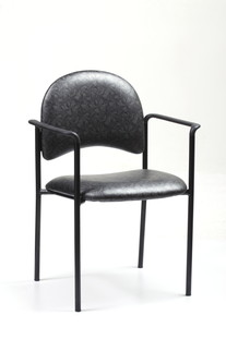 Arrow Upholstered Stack Chair