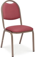 Standard Round Back Upholstered Stacking Chair
