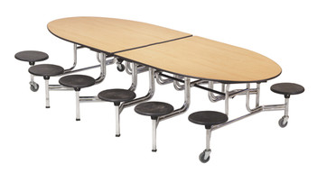 Dine Mobile Folding Stool Table