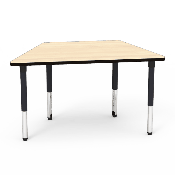 Trapezoid activity table accent environments for Trapezoid table