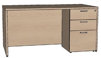 Premier Single Pedestal Desk