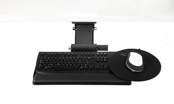 Move Articulating Keyboard Tray with Clipmouse Pad
