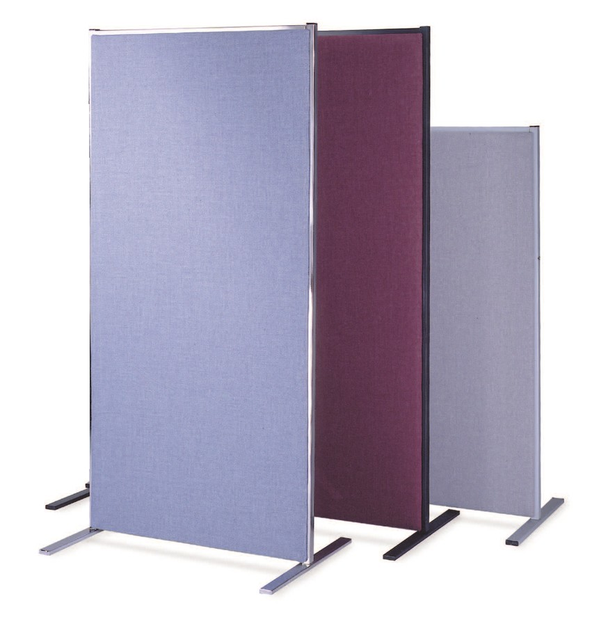 section fabric covered room divider panels accent