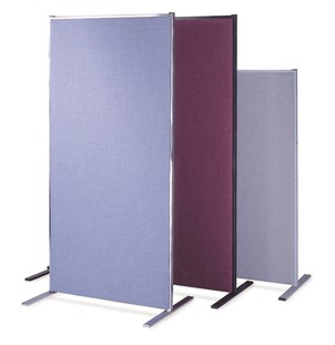 Section Fabric Covered Room Divider Panels