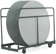 Sirra Round Folding Table Cart